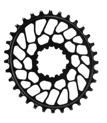 PLATO OVAL ABSOLUTEBLACK SRAM SHORT BB30 DIRECT MOUNT