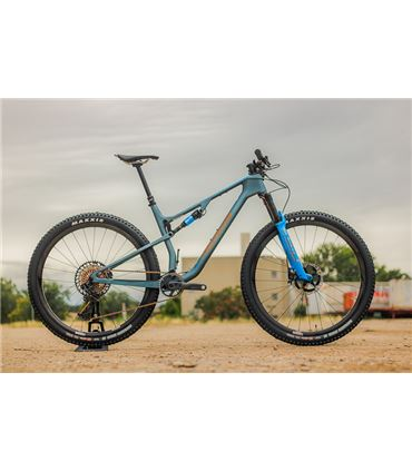 BICICLETA DOBLE XC MERIDA NINETY SIX 8000 2021 AZU-MAR